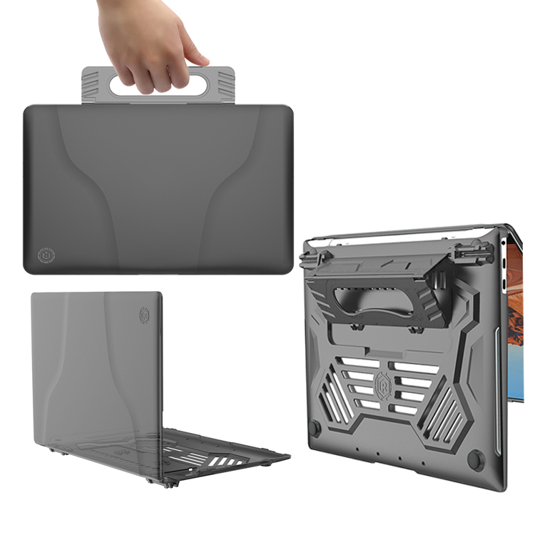 Multi-function Translucent Heat Dissipation Laptop Case Handle Protective Case For Huawei Matebook X Pro 13.9