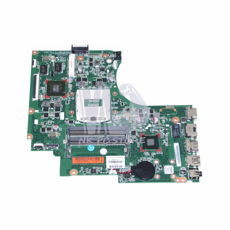 756221-001 756221-501 For HP TouchSmart 15-D 15-D101TX 250 Laptop Motherboard PGA947  820M 2G Discrete graphics 815248 501 main board for hp 15 ac 15 ac505tu sr29h laptop motherboard abq52 la c811p uma celeron n3050 cpu 1 6 ghz ddr3