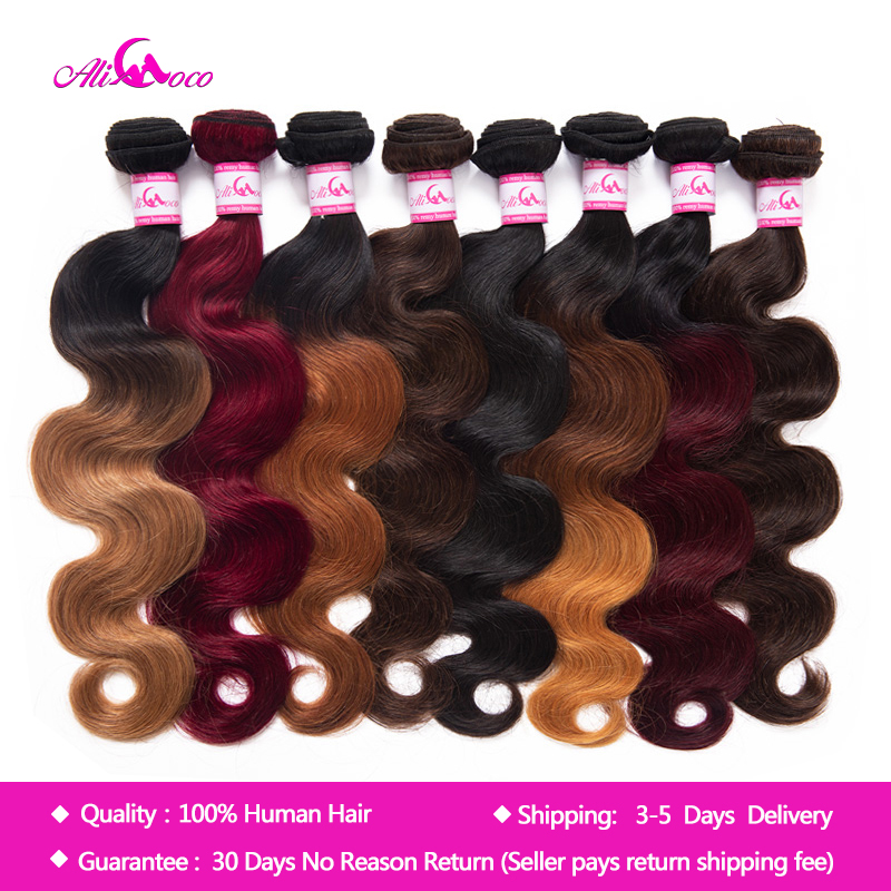 Ali Coco Malaysian Body Wave Hair Bundles 1/3/4 Bundles 8-30 Inch Body Wave Deals Non Remy Omber Hair 100% Human Hair Extensions