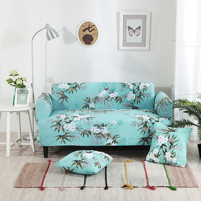 Flowers Universal Stretch Furniture Covers Plants Couch Corner Sofa     Flowers Universal Stretch Furniture Covers Plants Couch Corner Sofa  Slipcovers For Living Room Elastic L