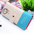 N842 Free Shipping Fashion Design Lady Women Wallet PU Leather Purse Clutch Long Bicycle Pattern Zip Card Holder Top Quality