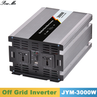 3000W 12V24V48V DC Input 110V 220V AC Output Modified Sine Wave Off Grid Tie Inverter Microprocessor