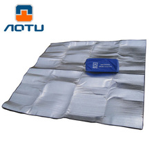 NEW 2019 Outdoor Camping Mat EVA foam Upset 2m * 2m double-sided aluminum membrane dampproof mat tent picnic mat outside цена