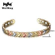 Браслеты welmag для магнитной терапии женщин 3 цвета очаровательные