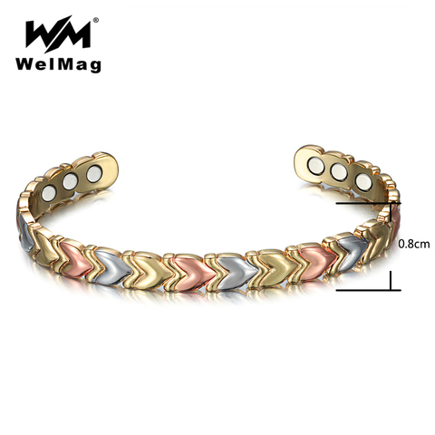 Купить браслеты welmag для магнитной терапии женщин 3 цвета очаровательные