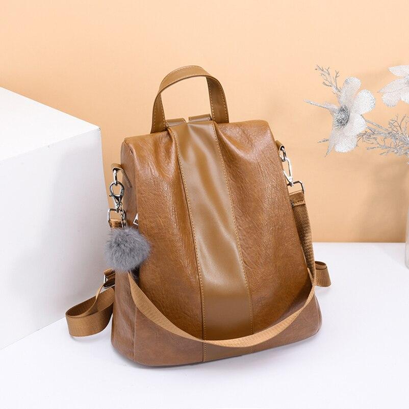 Nevenka 2018 Women Backpacks Fashion Leather Satchel Bags Sac Zipper Bags Casual Shoulder Bags Mochila06