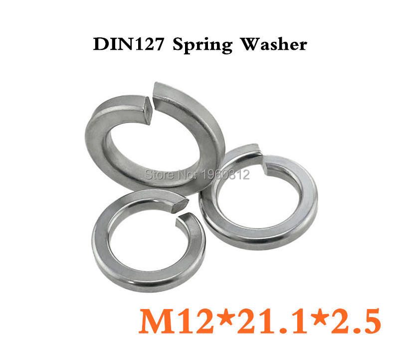 500pcslot DIN127 M12  Spring Washer A2 Stainless Steel