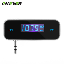 FM Transmitter MP3 Player Transmitter Audio Music LCD Diaplay Broadcasting 3.5mm Port for Phones IPhone IPod Android Samsung