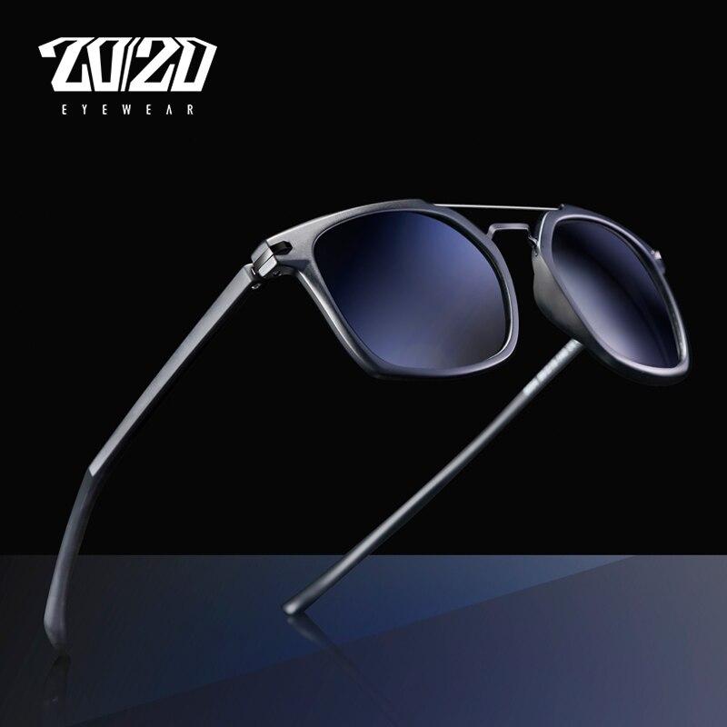 20/20 Brand Design Classic Polarized Sunglasses Men Driving TR90 Frame Sunglasses Goggles UV400 Gafas Oculos De Sol 5004
