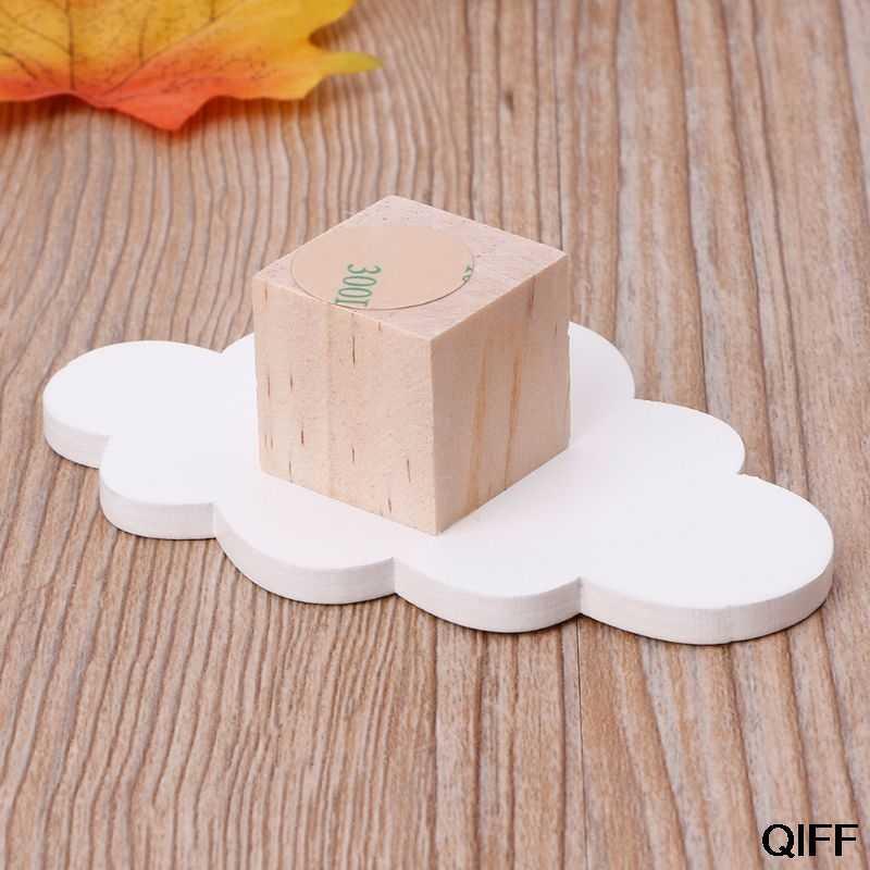Оптовая продажа милые крючки в форме облаков деревянная вешалка для одежды Настенный декор Детская спальня кулон May06