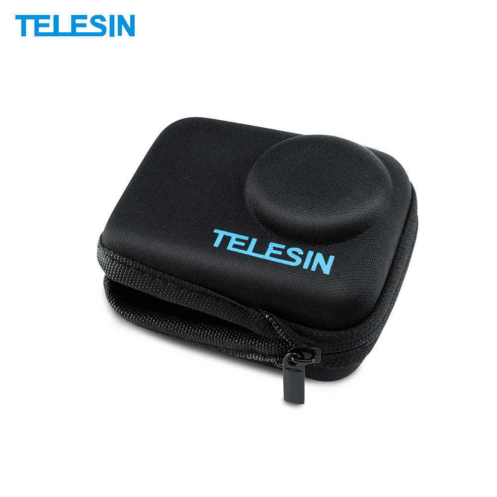 TELESIN Portabel Travel Mini Carry Case Shell Cover Penyimpanan EVA Tas Kantong dengan Ritsleting untuk DJI Osmo Action Camera