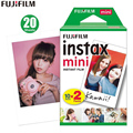 Original 20 sheets Fujifilm Instax mini 8 films white Edge 3 Inch for Instant Camera 7 9 25 50s 70 90 sp-1 sp-2 Photo paper