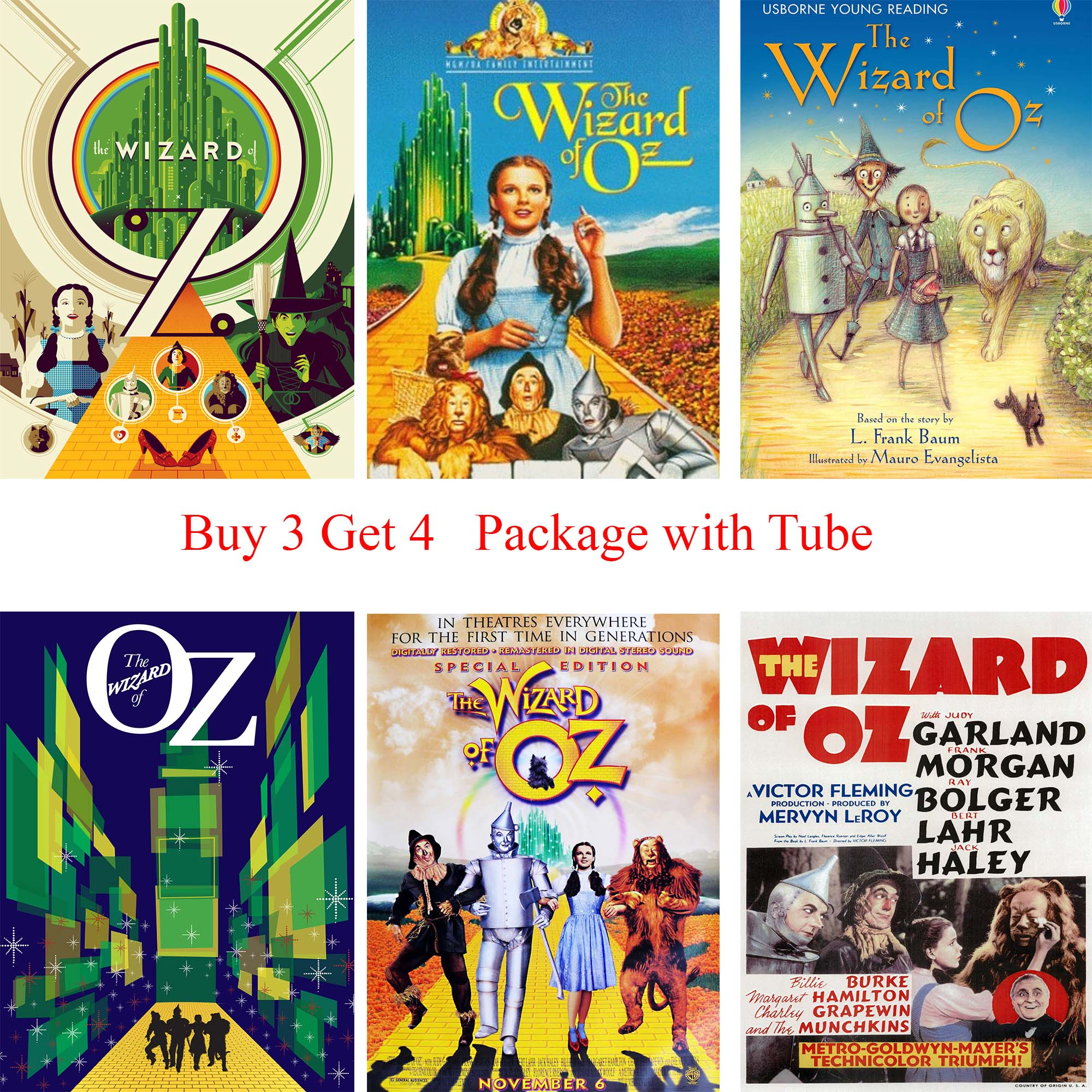 The Wizard of OZ Posters Cartoon Wall Stickers Livingroom Kids Room Decoration ...