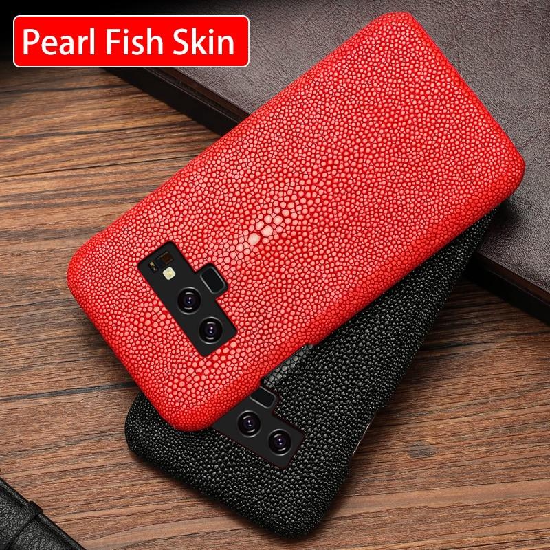 Téléphone étui pour samsung Galaxy Note 9 8 5 4 S5 S6 S7 Bord S8 S9 Plus A5 A7 A8 J5 J7 Thaïlandais Perle poisson Stingray Dasyatis akajei capa
