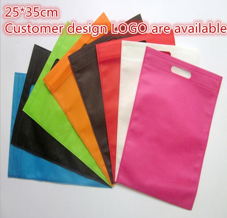 25*35cm 20 Pcs/lot Recycling Custom Bag Gift Packaging Bags Women Shopping Bags