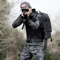 Special Forces Tactical Suit Military Camouflage T Shirts Mens Hunter Army SWAT Spetsnaz Active Camo Clothes Tactics Gear