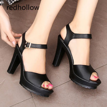 лучшая цена High Heels Sandals Women Platform Sandals Super High Heels Sexy Women Pumps Summer Shoes Woman Sandals Big Size 34-43