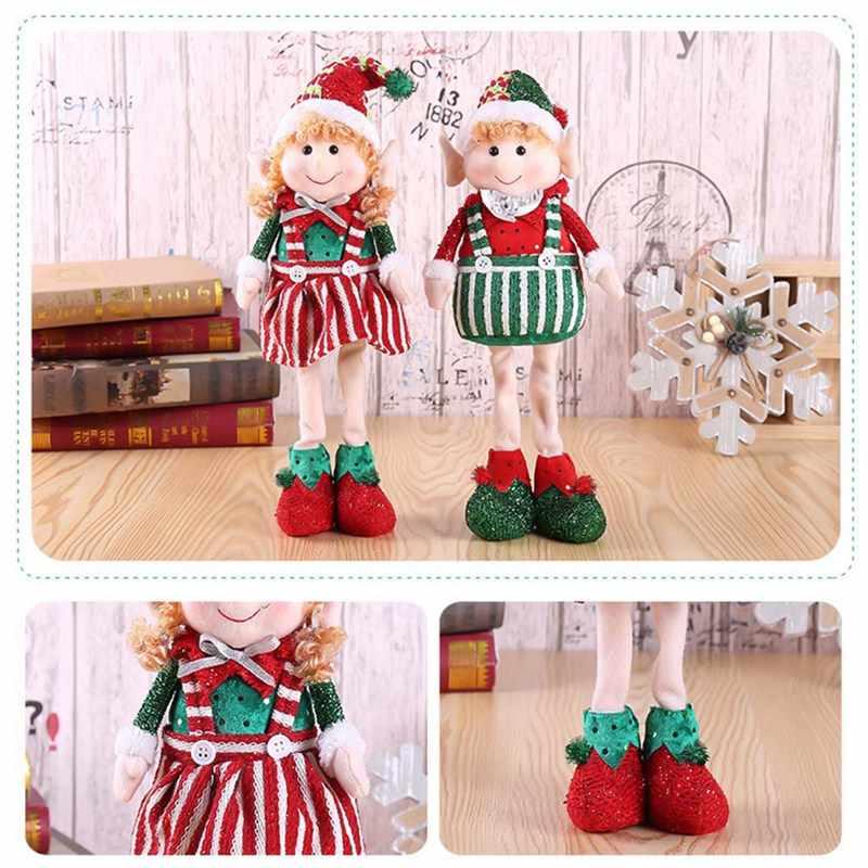 Новогодние украшения с дедом морозом со снеговиками, с северными оленями кукла подвеска с героем аниме Рождественский Новогодний подарок Regalos De Navidad для дома