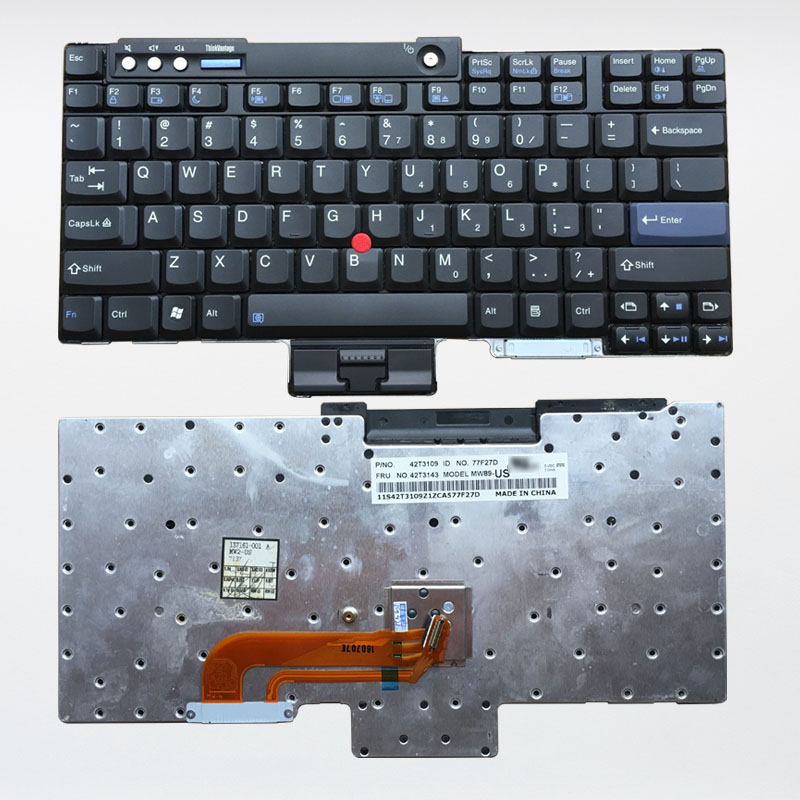 New Laptop Keyboard For Lenovo IBM ThinkPad X60 X60S X61 X61S T400 T60 T61 English Keypad Keys Replacement