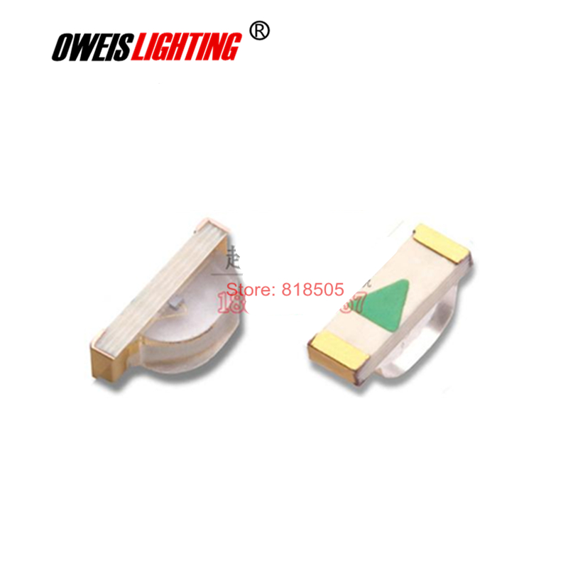 50PCS 1204 Side Emitting LED RED BLUE YELLOW GREEN YELLOW-GREEN PINK PURPLE ICE-BLUE WHITE (WARM/COLD) ORANGE  3210 3.2*1.0MM