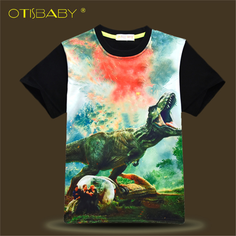 7d8909e5 Detail Feedback Questions about High Quality Dinosaur T Shirts for Boys  Jurassic Park World Sweatshirts Teenage Printed Shirts Children Short  Sleeve Tops ...