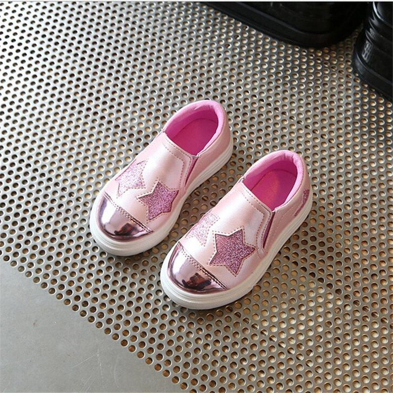 824b5e6534a Children shoes Girls 2017 new girls fashion casual shoes for 4-12 year  rubber sole
