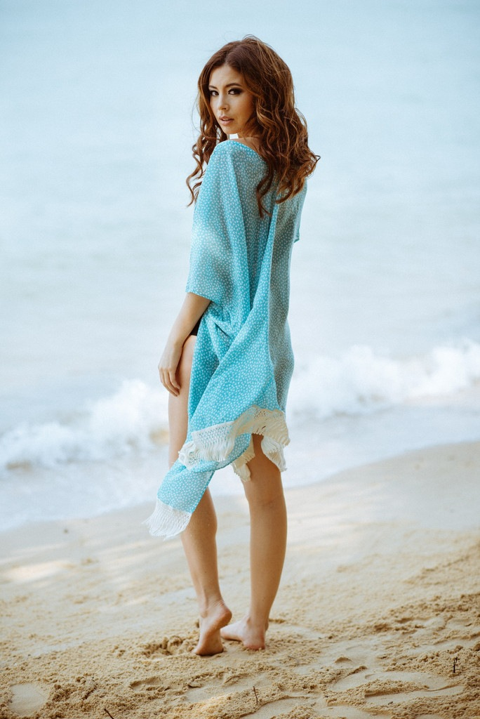 Women Summer Sexy V necklace Dress Vestidos Sleeve Newest Tassel Chiffion Lace Patchwork Tunic Dress Hollow