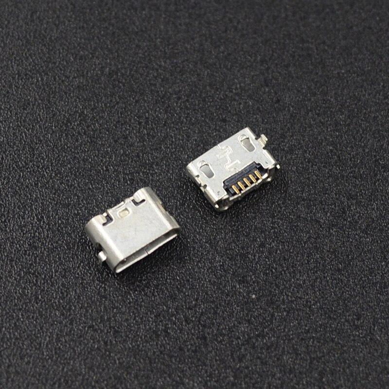 10 шт. micro USB 5pin jack обратный Бык Рог зарядный порт разъем mini usb для Huawei 4X Y6 4A P8 C8817 max Lite Pro
