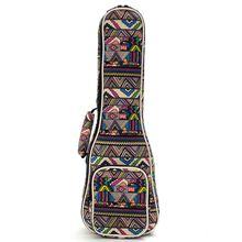 """21″ 23″ 26"""" Canvas Ukulele Instrument Bag Ukelele Case Box Guitar Guitarra Backpack With Double Shoulder Straps For Guitar Part"""