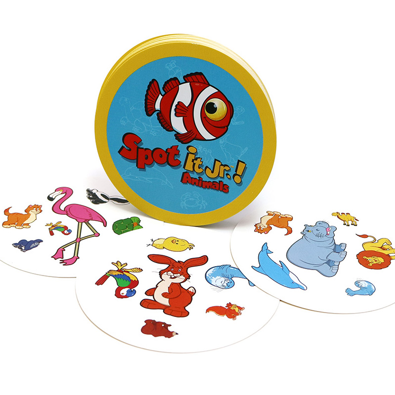 2019 Board Games Spot Animals For Kids To Learn Animals 31 Playing Cards Dobble It Cards Game