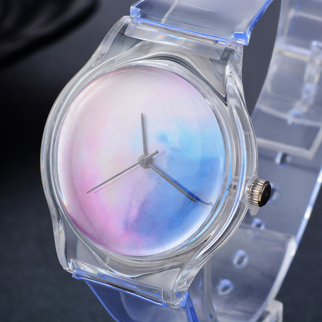 Transparent Clock Silicon Sport Style