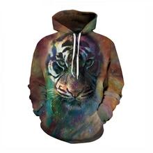 LittleNN Männer Herbst Winter Tiger Sweatshirts Männlichen Langen Ärmeln Pullover Mit Kapuze Sweatshirt Mode Lässig 3D Print Pullover 2017