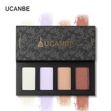 UCANBE Brand Hot 4 Colors Glow Highlighter Makeup Palette Set Aurora Polarization Shadow Powder Long Lasting Face Cosmetics Kit