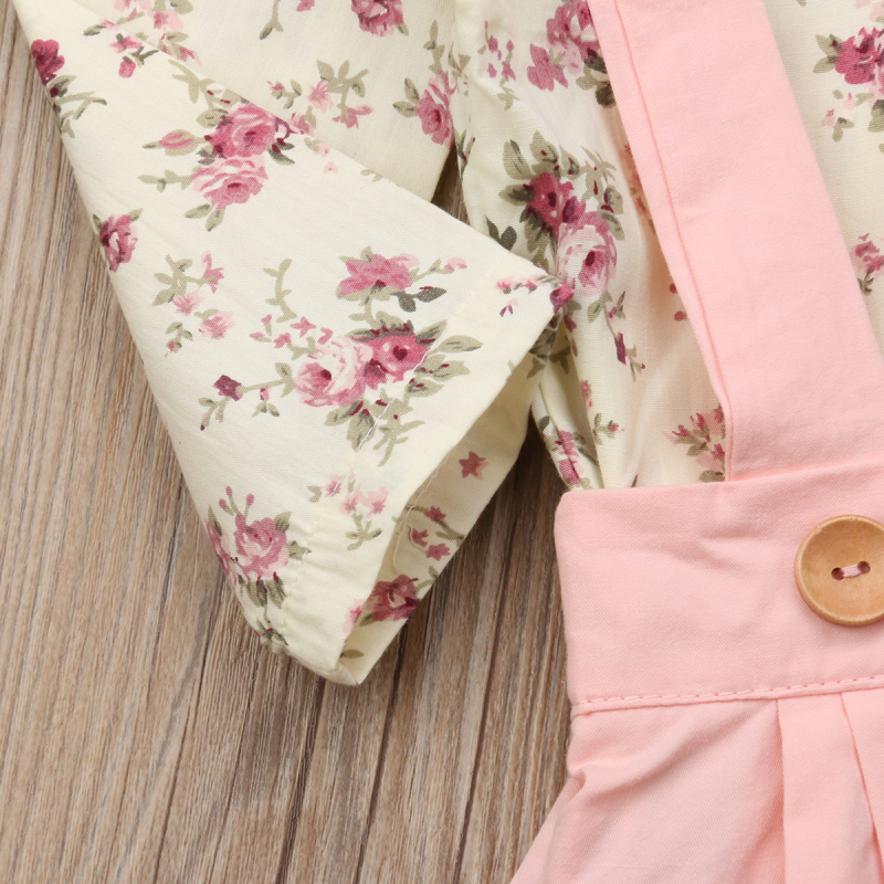 2PCS Toddler Kids Baby Girl Winter Clothes Floral Tops+Pants Overall Outfits sweet girl clothes set 16