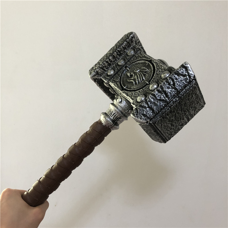 WOW  1:1 Warcraft Hammer 54cm Destroy Hammer Weapon Game Role Cosplay Safety PU Material Figure Model  Kids Gift