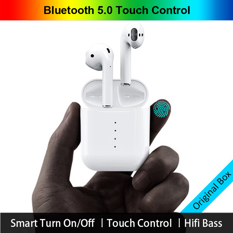 Nouvelle i10 tws Bluetooth 5.0 Écouteur Sans Fil Écouteurs Tactile Contrôle Écouteurs 3D Surround Sound & cas De Charge pour tous les smartphone