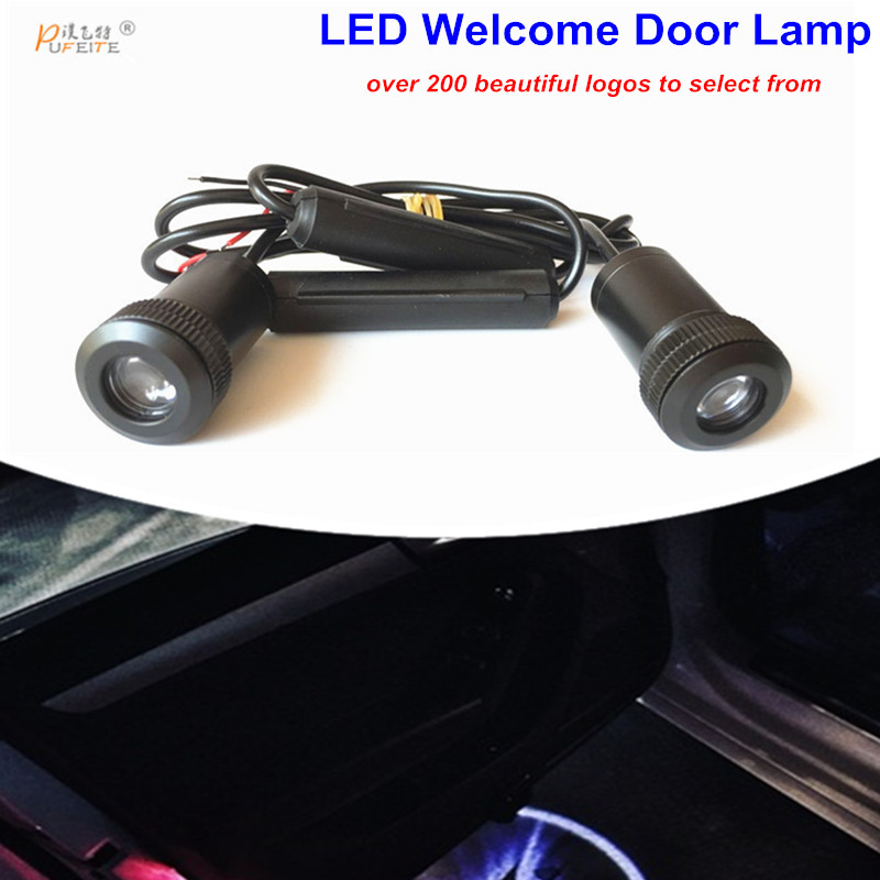 LED Car Courtesy Laser projector Logo Ghost Shadow light Fit For alfa romeo 159 156 147 166 Mito Giulietta Spider GT for most cars 2pcs led car door light courtesy logo laser projector punching ghost shadow lamp lights for cadillac logo