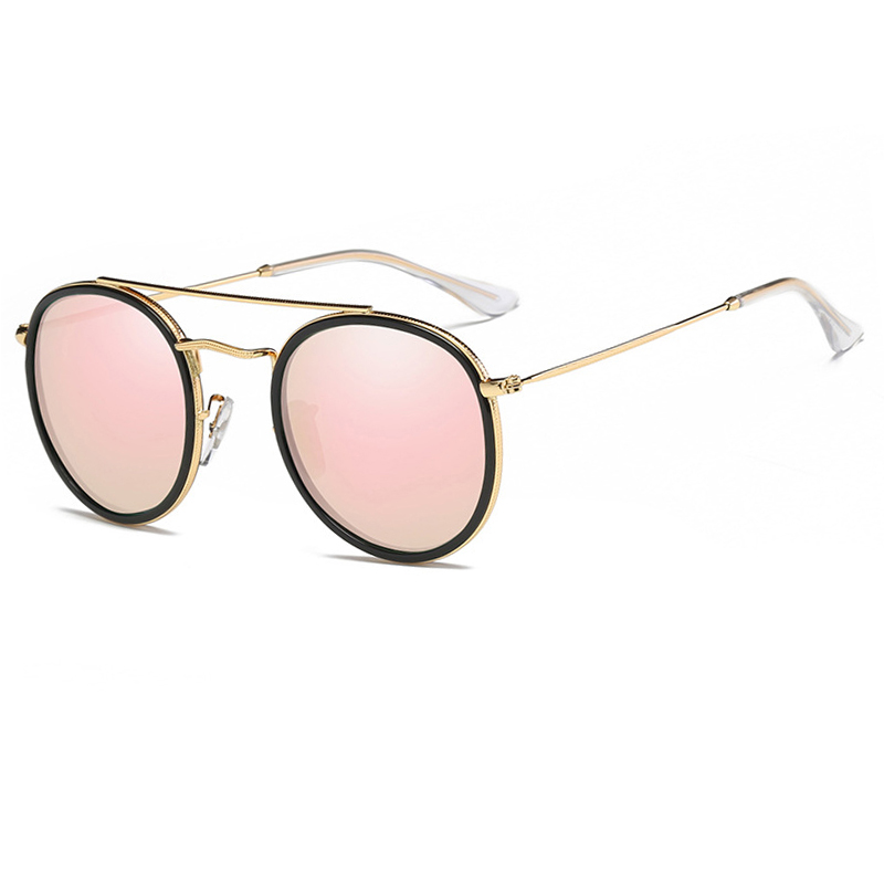 Brand design womens pink sunglasses vintage round polarized ladies sunglass women ó<font><b>culos</b></font> feminino masculino <font><b>Unisex</b></font> Sun glass image