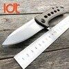 LDT 0801 BRZ Folding Knife M390 Blade Titanium TC4 Handle Tactical Knives Camping Hunting Ball Bearing