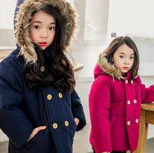 new designer Girls Boys Down Coat Winter Kids Jackets & Coats Big Fur Collar Children's Thick Warm Long Down Jacket Parkas