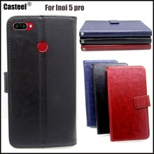 Casteel Classic Flight Series high quality PU skin leather case For INOI 5 Pro Case Cover Shield