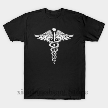 Funny Printed Men T shirt O-neck tshirts Vintage Caduceus Symbol - Nurses Doctors Medic Healthcare Women cotton T-Shirt
