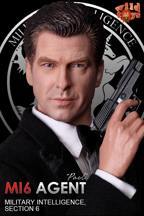 1/6 scale figure doll 007 Agent James Bond Pierce Brosnan.12 action figures doll.Collectible figure model toy gift james bond agent 007 ocean royale m edt spr 75 мл тестер