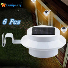 LumiParty 6 Pack Sun Power Smart LED Solar Gutter Utility Light Permanent for Houses, Fence Garden Shed Walkways Anywhere