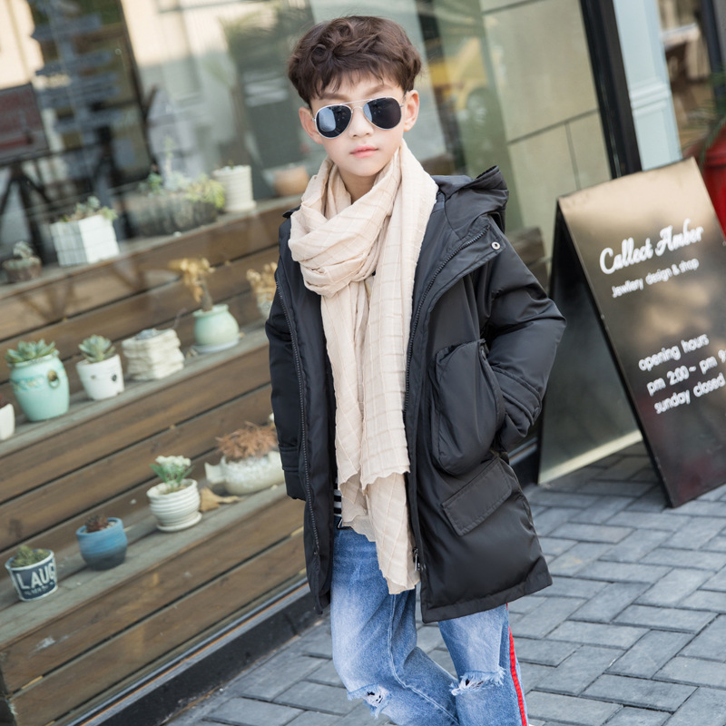 Winter White Duck Down Boys Outwear Coats and Jackets Warm Cotton Padded Boy Coat Hooded Baby Jacket Casual Children Clothes viishow new winter jacket men warm cotton padded coat mens casual hooded jackets handsome parka outwear men jaqueta masculino