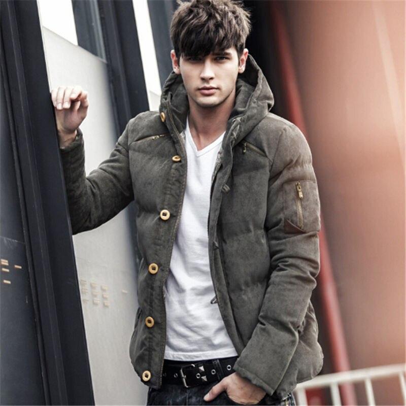2017 The Winter Coat Corduroy Young Men Short Size Cotton ...