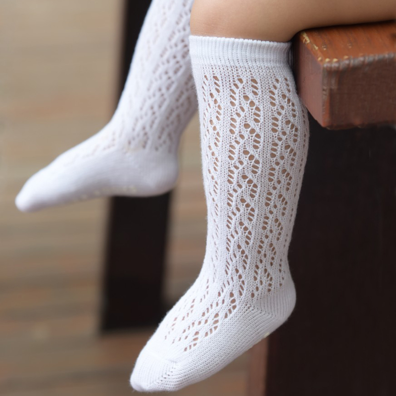 1 Pair Boys Girls Soft Comfortable Breathable Mesh Cotton Socks