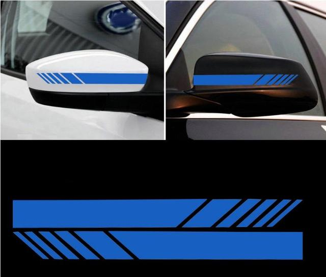 2pcs Rearview Mirrors Stripe Decals Car Styling Stickers Scratches Covers Automobiles Decorating Accessories