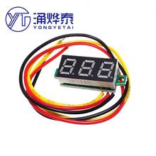 0 28 cal ultra mały cyfrowy woltomierz do prądu stałego cyfrowy wyświetlacz regulowane trzy drutu DC0-100V baterii woltomierz tanie tanio YongYeTai