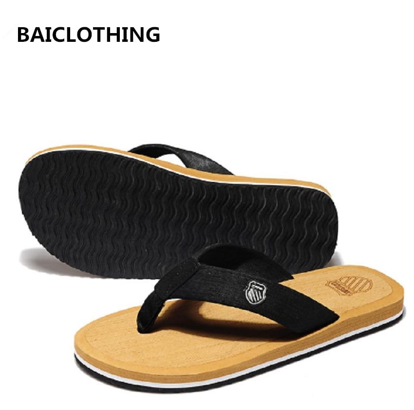 BAICLOTHING Men's Summer flip flops Beach Sandals for Men Flat Slippers non-slip flip flops male casual flip flops chancletas цена